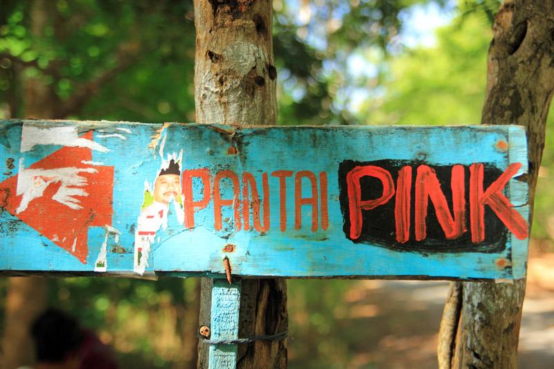 Ne Petunjuk menuju pantai Pink