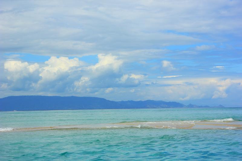 Kalo gelombang Pasang, airnya seketika itu menutupi pulau ini