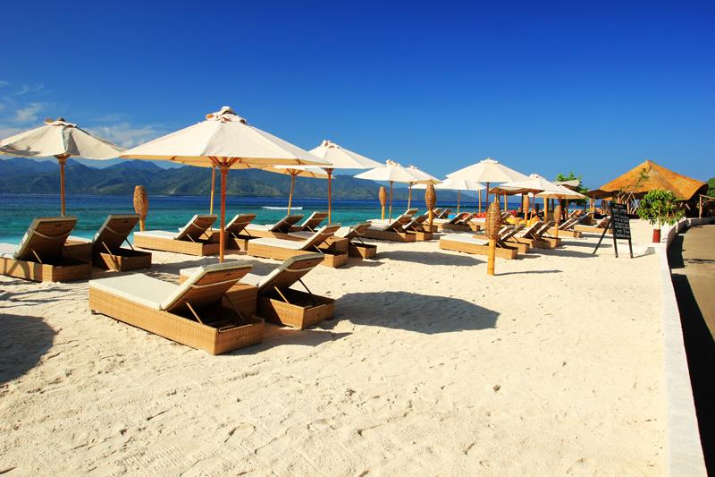 Sunbathing at Villa Ombak