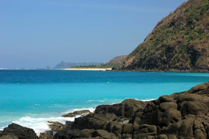 Pantai Serangan dilihat dari Selong Belanak