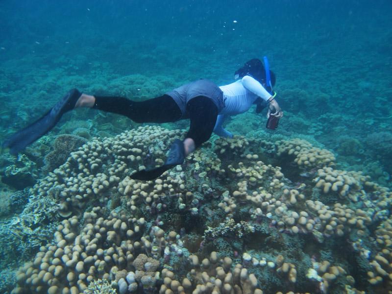 Aksi Mbak Wet saat moto Ikan Nemo