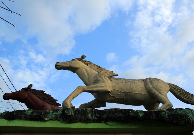 Kuda-kuda yang menjadi icon kota dompu