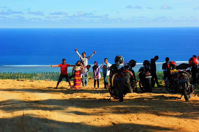 ujung jalan Desa Montong Ajak, Lombok Tengah