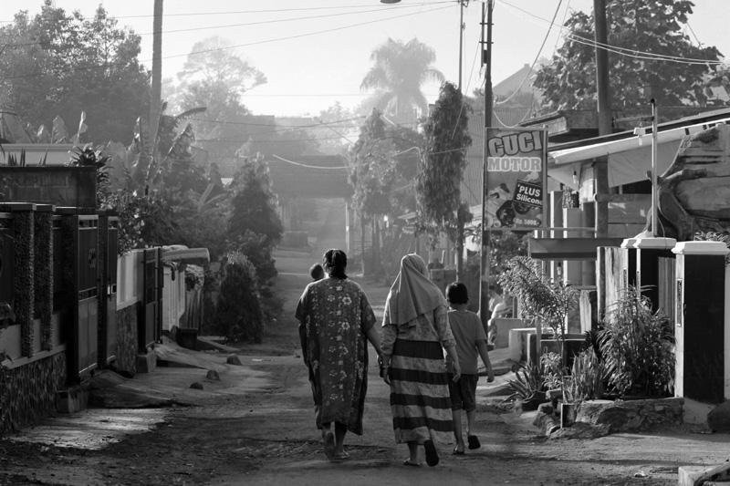 Kampung Gading di waktu pagi