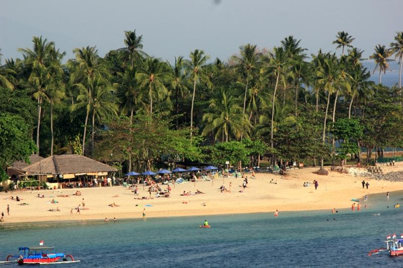 Pantai Senggigi di Sore hari