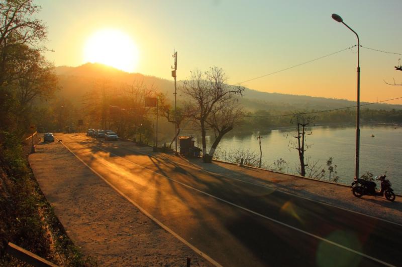 Pagi yang tenang di Senggigi